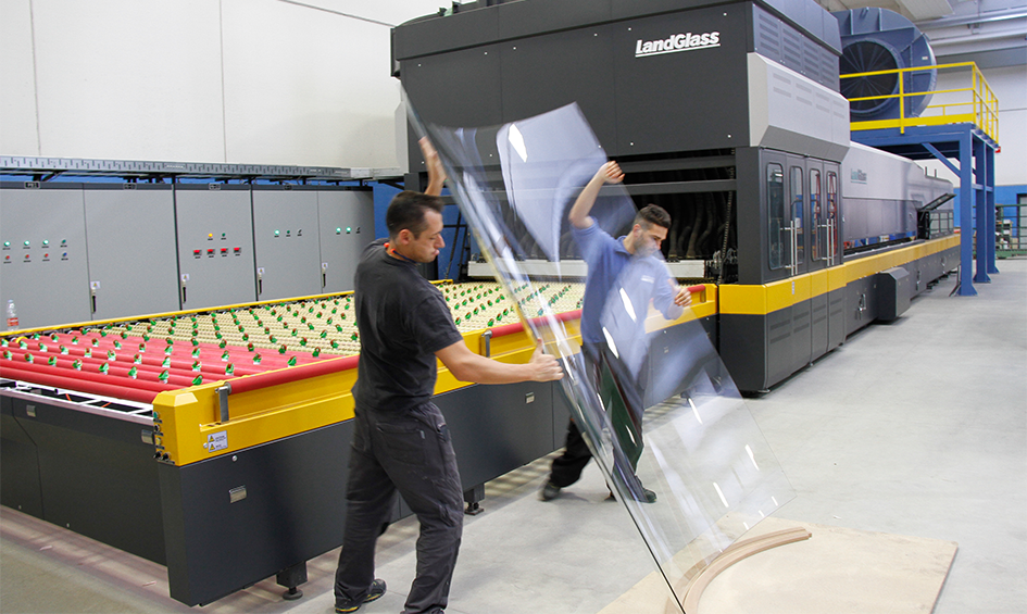 LandGlass glass tempering machine in Italy