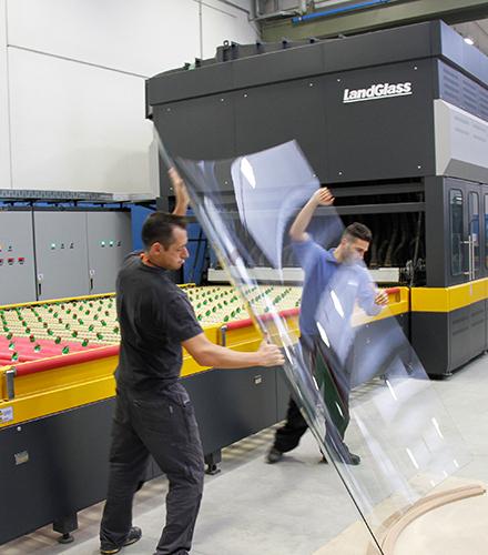 LandGlass glass tempering machine in Italy