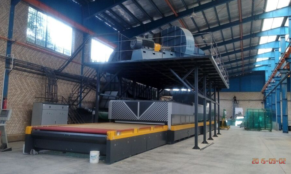 LandGlass Glass Tempering Furnace in Iran