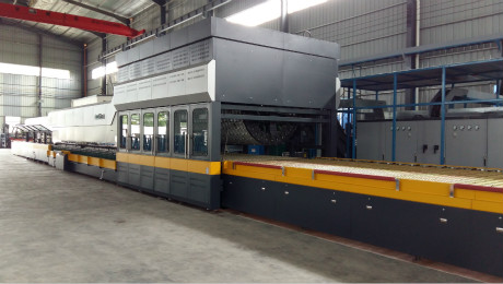 What is the ultra-long multi-chiller tempering of the LandGlass C+ soft shaft bending glass tempering furnace?