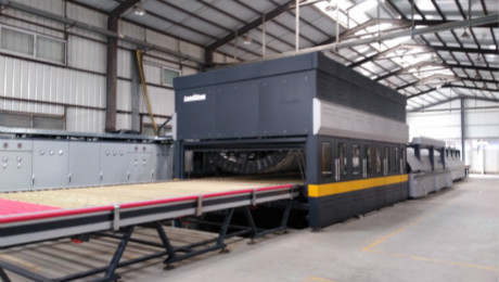 What is the the single chiller conventional tempering of LandGlass' C+ flexible bending tempering furnace?