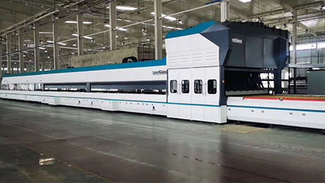 What heating method should be adopted in the glass tempering furnace when the sheet glass is larger than 1500mm×1500mm and with a nearly square shape?